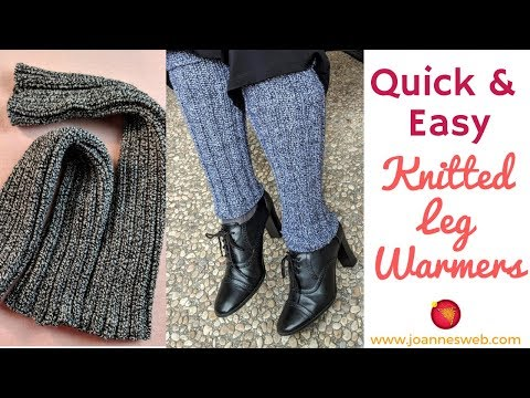 Knitted Legwarmers Quick and Easy