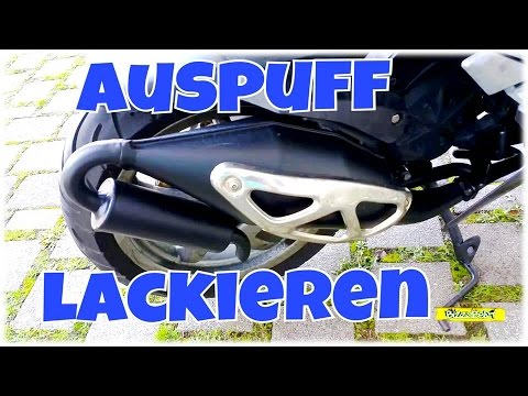 roller auspuff lackieren bizzybest youtube. Black Bedroom Furniture Sets. Home Design Ideas