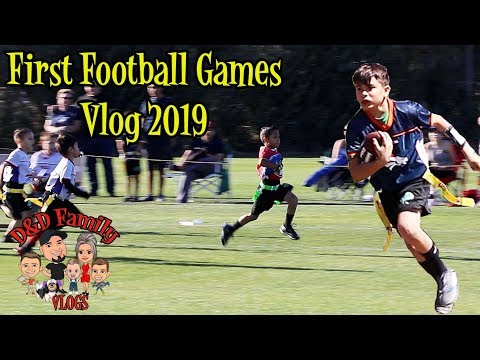 FIRST FOOTBALL GAME FOR DAMIAN And DEION OF 2019 | D&D FAMILY VLOGS