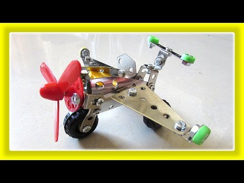 Toys For Kids, DIY Airplane Toy, Assemble Toys Metal Construction Set by JeannetChannel
