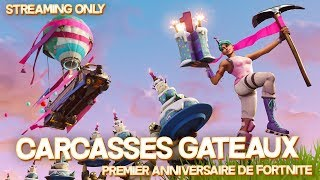 "FORTNITE SAUVER THE WORLD ""CARCASSES A CAKE"" PS4/PC 720PPS4/PC 720P HD EN"