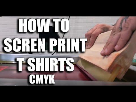 How to Screen Print T Shirts cmyk