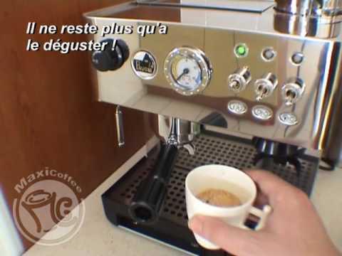 faire un caf espresso avec une la pavoni dmb les tutos maxicoffee youtube. Black Bedroom Furniture Sets. Home Design Ideas