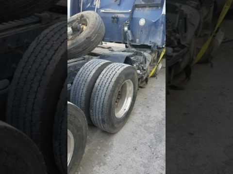 Wrecked truck in Kansas