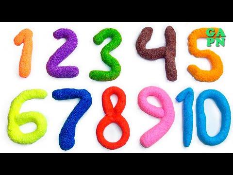 Aprender A Contar Con Play Doh Los Números 11 a 20   Aprender a Contar Con Espuma Blanda Brillo 1-10