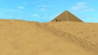 HUGE PYRAMID IN ROBLOX!! Playing Our Old Games