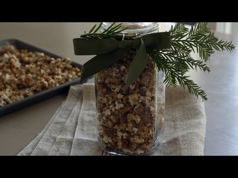Caramel Corn w/Toasted Hazelnuts Recipe || KIN EATS
