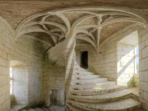 escalier vis du ch teau de l 39 herme youtube. Black Bedroom Furniture Sets. Home Design Ideas