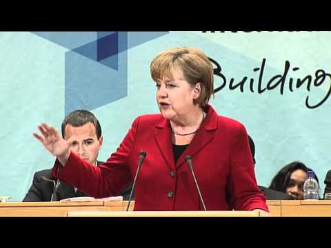 Angela Merkel, Chancellor of Germany addresses the International Labour Conference