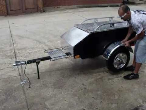 Motorcycle Trailers - Pull Behind Cargo Trailer - YouTube