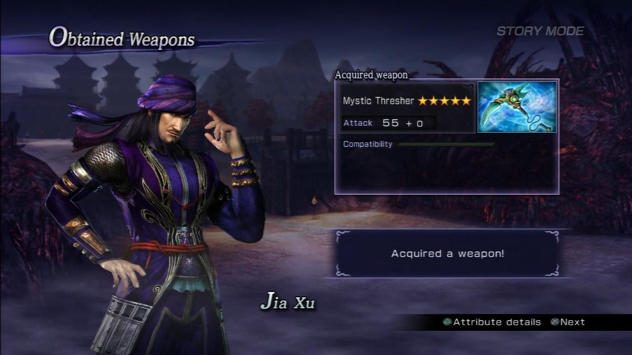 Warriors Orochi 3 Ultimate - Jia Xu Mystic Weapon Guide - YouTube