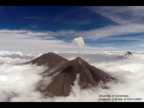 Bristol and Cambridge Universities fly Drones over Volcán de Fuego in Guatemala