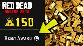 Red Dead Online - UNLIMITED GOLD BARS GLITCH! (RESET AWARDS GLITCH 100% WORKING TUTORIAL)
