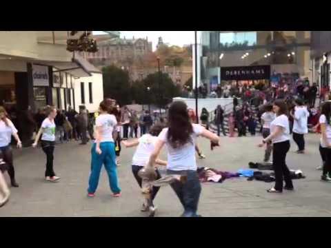 BU dance flashmob Bangor Nov 2013