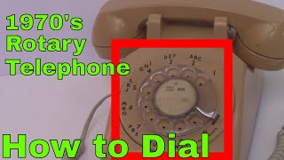 Using a Vintage Rotary Dial Telephone phone USA Antique