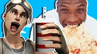 EATING PIZZA EXTREMELY LOUDLY ON FORTNITE! (Fortnite Voice Trolling)