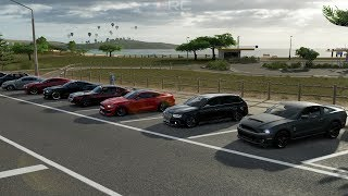 Forza Horizon 3 | 850HP Drag Racing w/  GT500, Hellcat, RS4, Chevy SS, VR-4, GT350R & More