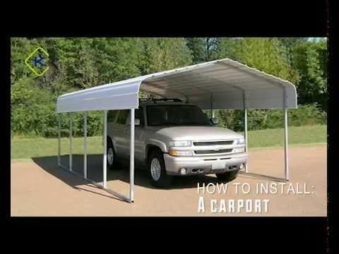 Kroftman carport installation youtube for Montageanleitung carport