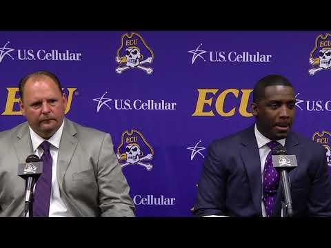 ECU Head Coach Scottie Montgomery duces Defensive Coordinator David Blackwell