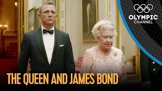 James Bond and The Queen London 2012 Performance(Click here for all Olympic highlights and let the Games never end: http://go.olympic.org/watch?p=yt&teaser=b&id=1AS-dCdYZbo Daniel Craig reprises his role ..., 2012-07-27T21:27:42.000Z)