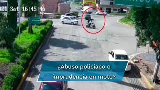 Aarón de 14 años y Ernesto de 20 fueron perseguidos y embestidos en su moto por la policía de Pedro Escobedo; el primero está muy grave