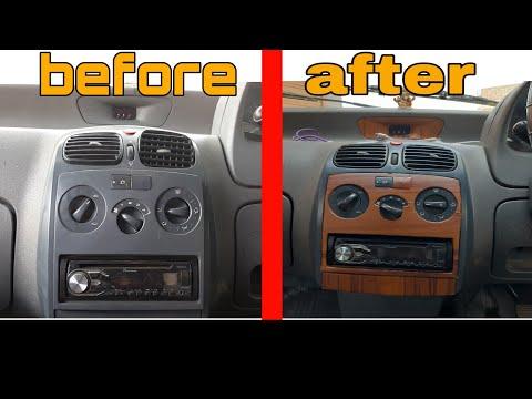 Wrap a car interior  diy car interior modification  vinyl wrap🔥🔥🔥🔥