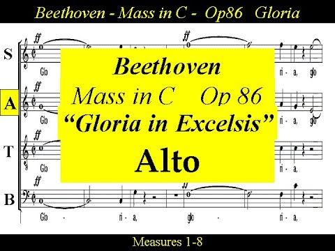 Beethoven - Op86 - Mass in C Major - 2a Gloria In Excelsis - Alto