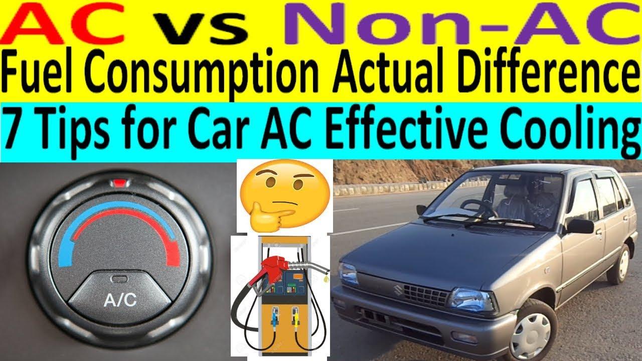 Suzuki Mehran / Maruti 800 AC vs Non-AC fuel Consumption Actual Difference    AC cooling tips