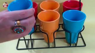 Ceramic Cutting Chai Glass - Set of 6 - Amazon Shopping
