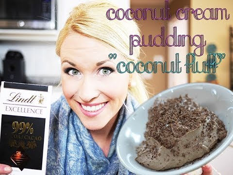 Chocolate Coconut Fluff Pudding l HEALTHY SNACK