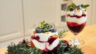 Десерт в стакане. Трайфл. Быстрый десерт.