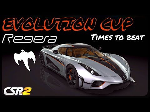 CSR Racing 2 - Regera Ghost - Evolution Cup - Times to beat (All 15 races)