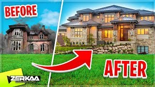 Turning a HAUNTED HOUSE Into a LUXURY HOUSE! (House Flipper DLC)
