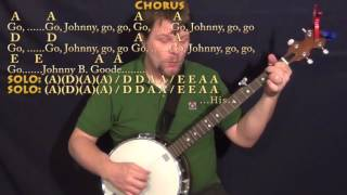 Johnny B. Goode (Chuck Berry) Banjo Cover Lesson in A with Chords/Lyrics
