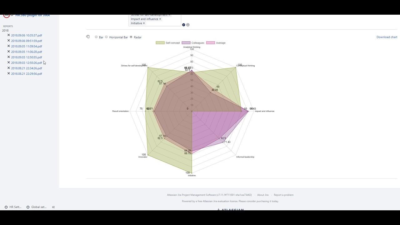 hr 360 plugin for jira create reports in pdf and xlsx format [ 1280 x 720 Pixel ]