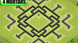 clash-of-clans-th8-anti-hog-giant-trophy-base-replay-merry-go-round-2014-4th-mortar