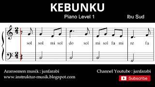 not balok lihat kebunku - tutorial piano tingkat 1 - notasi lagu anak - doremi solmisasi