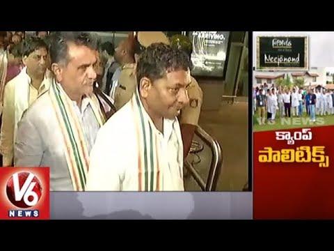 Gujarat Congress MLAs Reach Ahmedabad Amid High Security   V6 News