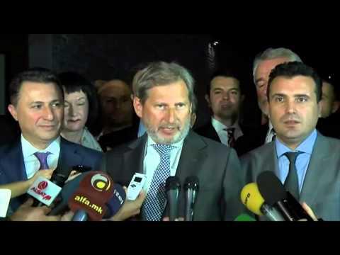 Skopje visit: Commissioner Johannes Hahn