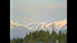 Reeves Lockheed Electra with damage engine landing
