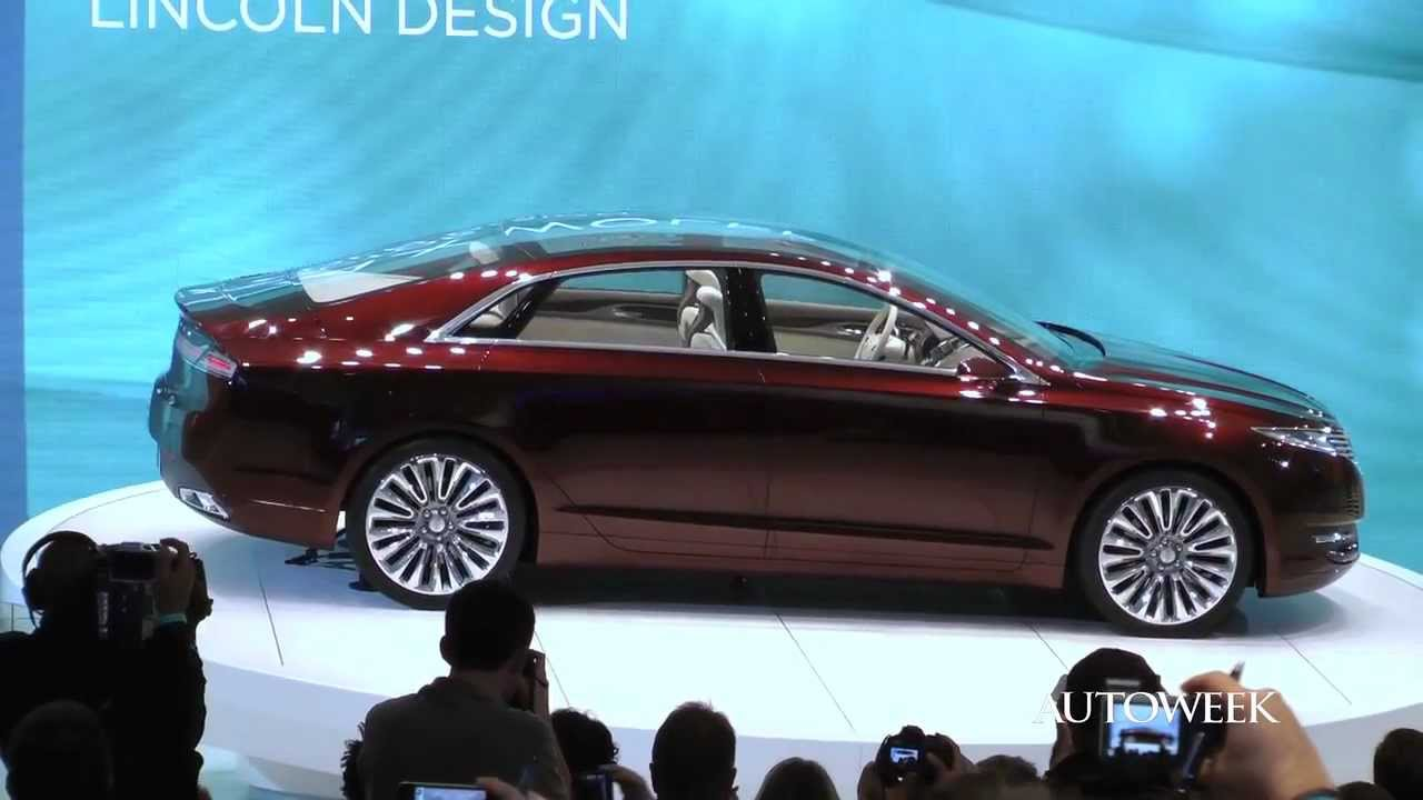 Lincoln MKZ concept revealed at the 2012 Detroit auto show - YouTube
