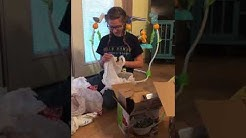 Teenager getting money for Christmas