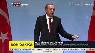 G20 GAZETECİ NEDEN KURDİSTANİ İSTEMİYORSUN RECEP TAYYİP ERDOGAN DAN TOKAT GİBİ CEVAP