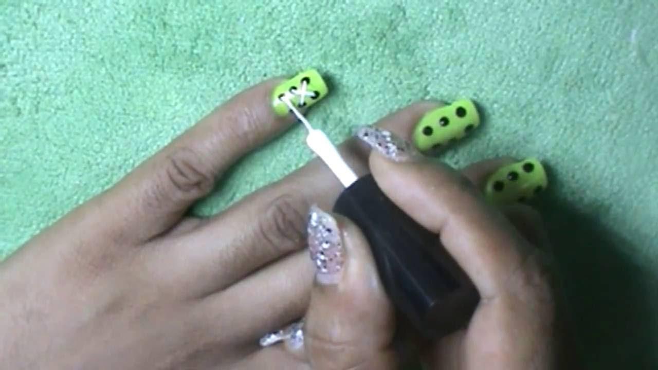 Uñas decoradas - Decoración de uñas de unas hermosas trenzas - YouTube