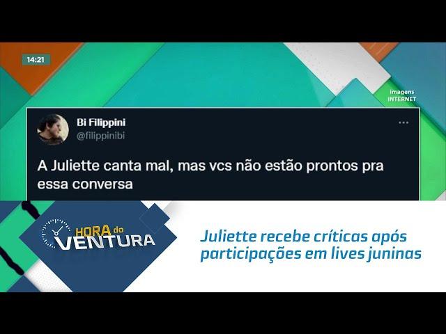 Juliette recebe críticas após participações em lives juninas