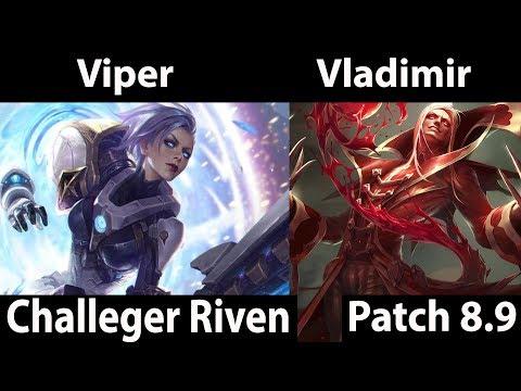 [ Viper ] Pulsefire Riven vs vladimir Top - Viper Pulsefire Riven Challenger Korea