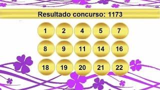 sorteio resultado lotofacil 1173 Palpite 1174