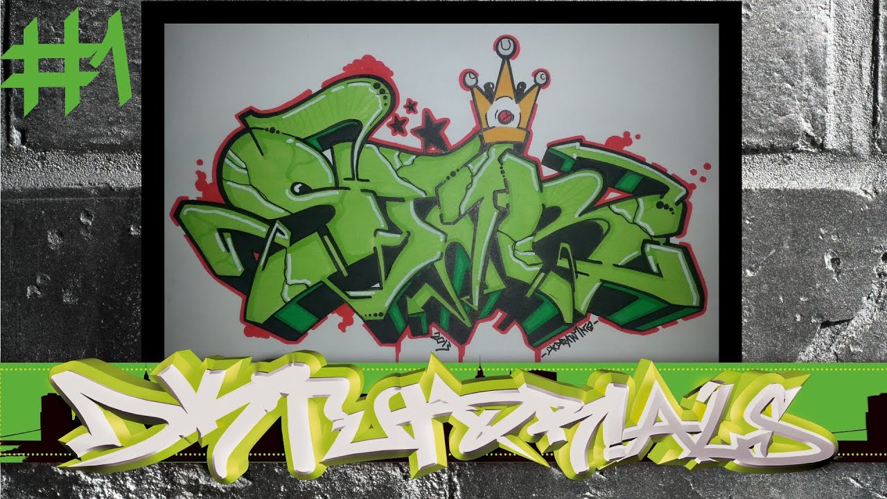 Wildstyle graffiti tutorial star 1 2 how to built and outline graffiti letters