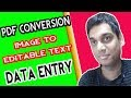 Image to text conversion | PDF conversion | Data entry from image to text | Hindi