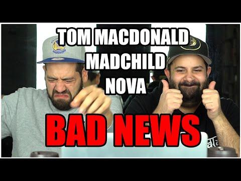 MAINSTREAM BARS!! Music Reaction | Tom MacDonald & Madchild Ft. Nova Rockafeller - Bad News